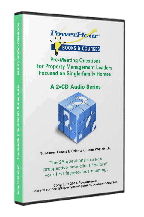 Pre-Meeting Questions for Single-Family Homes - 2-CD Set