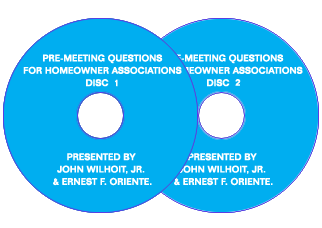 Pre-Meeting Questions for Homeowner Associations - Audio Files