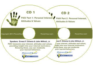 PIAV: Personal Interest, Attitudes and Values