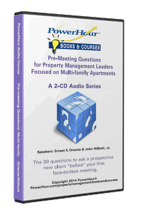 Pre-Meeting Questions for Multifamily Apartments - 2-CD Set