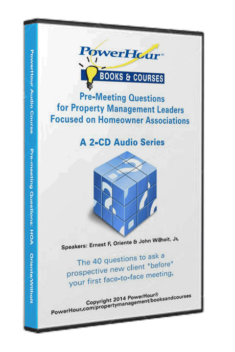 Pre-Meeting Questions for Homeowner Associations - 2-CD Set